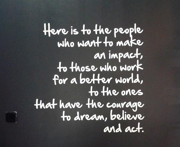 Quote at The Impact Hub Prague